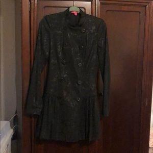 BETSEY JOHNSON brocade blazer/dress